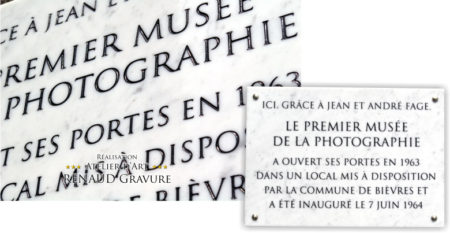 plaque d'inauguration
