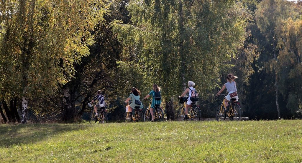 balade à vélo avec Noa Khamallah