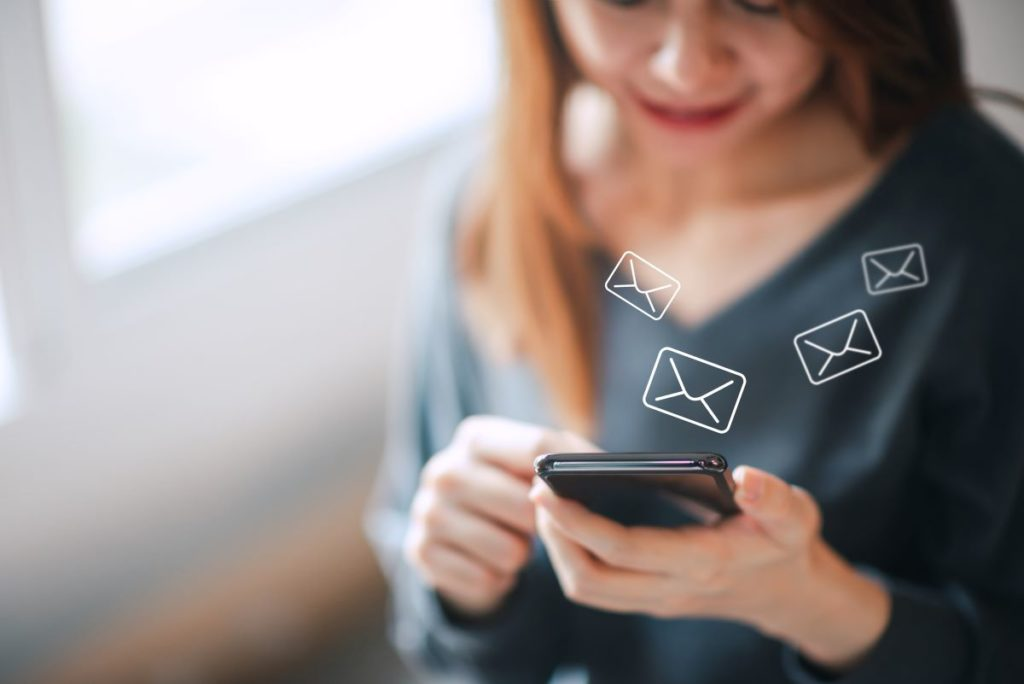 ecrire email smartphone