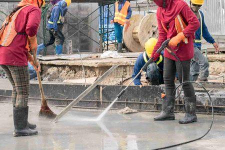 le nettoyage après chantier