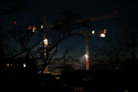 éclairage de chantier
